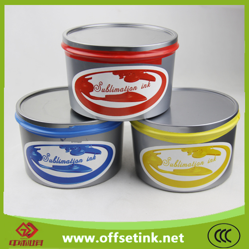 Black sublimation offset transfer ink for Heid