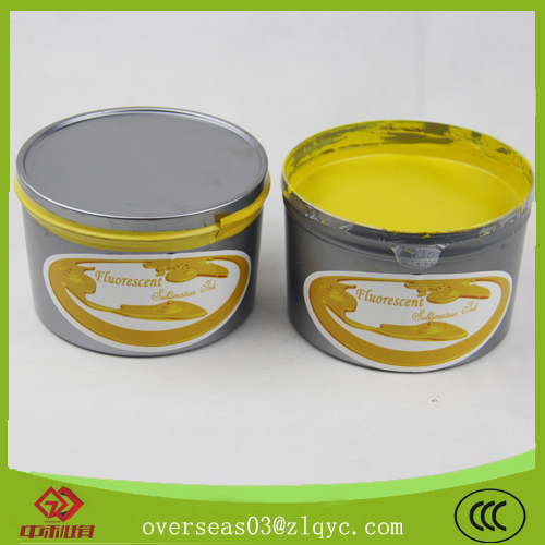 Fluorescent sublimation ink for offset (cmyk,
