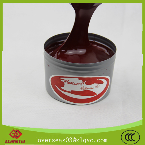 Fluorescent sublimation ink for litho printing