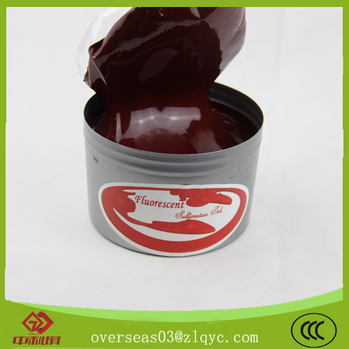 Sublimation offset fluorescent ink