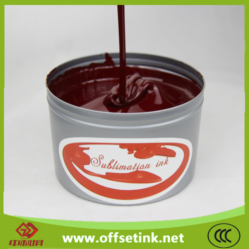 Sublimation printing ink for rotogravure